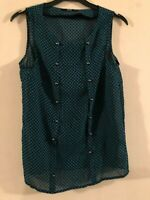 Oasis patterned sheer top size 8