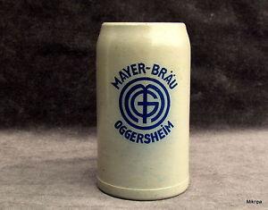 alte BIERKRUG  Mayer Bräu Oggersheim Ludwigshafen   1 Liter