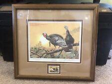 SPRING STRUT by Cynthie Fisher 11x15 Wild Turkey Tom Hen FRAMED PRINT PICTURE