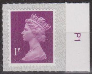 z4302) Great Britain - Machins. 2017. MNH.  SG u2920 1p Maroon  M17L Value Tab