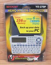 Vintage Sharp (YO-270P) Memo Master Organizer w/ Back Light Display **NEW**