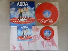 "ABBA  - SLIPPING THROUGH MY FINGERS - JAPAN 7"" + LP - COCA COLA PICTURE DISC"