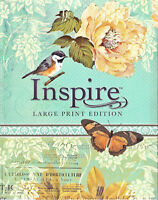 NEW Inspire Large Print Bible New Living Translation NLT Journaling Coloring Art