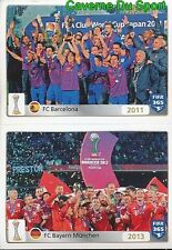 25-26 2011 FC BARCELONA 2013 BAYERN MUNCHEN FIFA CLUB WORLD CUP FIFA 365 PANINI