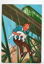 Carte Postale Tintin - Tintin et le Temple du Soleil n°13. Le Viaduc - Ed. YVON