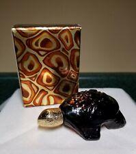 Vintage Avon Treasure Turtle Decanter Borcrade Cologne W/ Box. Full. Nos