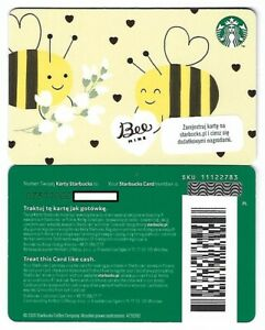 Geschenkkarte Starbucks Card Poland Polen Sommer Bee Mine Bienen -0731-
