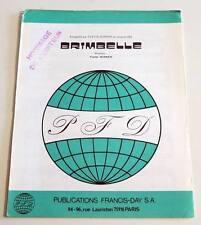 Partition vintage sheet music YVETTE HORNER : Brimbelle * Accordeon