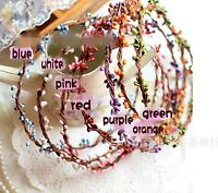 Women Girl Flower Fairy Bohemian Bride Wedding Beach Tiara Crown hair headband