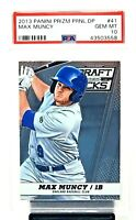 2013 Prizm Dodgers Star MAX MUNCY Rookie Baseball Card PSA 10 GEM MINT Low Pop 4