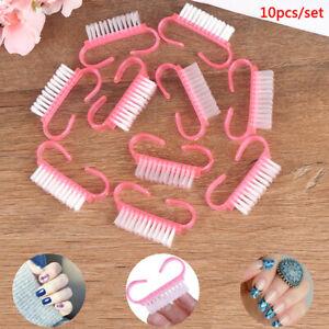 10* Nail Clean Brush Finger Care Dust Clean nail art brush nail Manicure tool cc