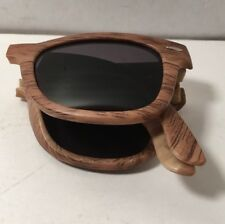 Promotional Captain Morgan Rum Wood Foldable Sunglasses Shades NEW BAR PUB BEACH
