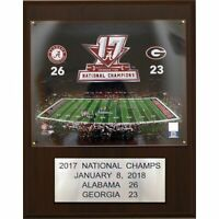 "NCAA Football 12""x15"" Alabama Crimson Tide 2017 BCS National Champions Plaque"