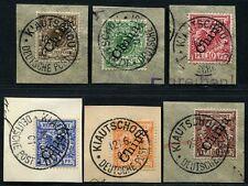 Kiautschou China 1901 M 1-6 II ° Kiautschou Deutsche Post Steuer €6263 / 252