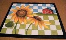 Floral Sunflower country kitchen Sunflowers Wall Home Decor Wooden Sign 9x11""
