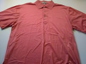 Peter Millar Mens Size Medium Polo Shirt Short Sleeve Pink color
