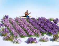 HO O scale Lavender field flowers miniature model kit railway dollhouse 1:87 n2
