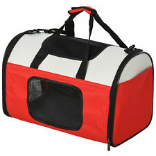 PawHut Foldable Soft-Sided Pet Carrier Expandable Travel Bag for Cats and Dogs