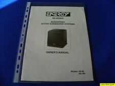 Energy AS-90/ AS-180  Owner's Manual Operating Instructions  New