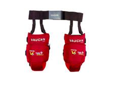 New Vaughn V6 1100i Ice Hockey Goalie Intermediate knee thigh guard pads Red