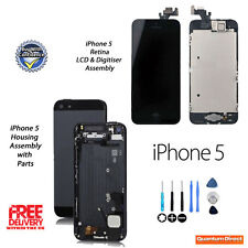 NEW iPhone 5 Complete LCD Touch Assembly + Back Cover Housing Replacement BLACK