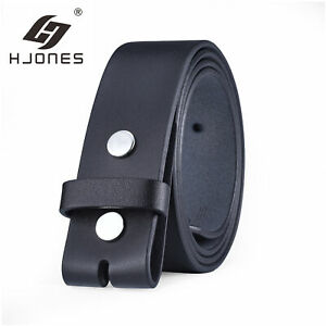 38mm Trend Mens Leather Belt Genuine Leather Strap For Pin Buckle Without Buckle