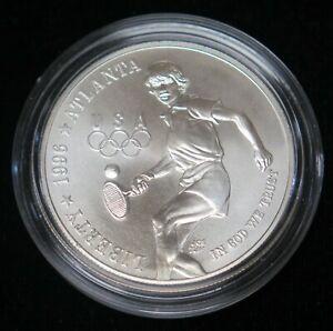 1996-D Atlanta Olympic Tennis Commemorative Silver Dollar BU