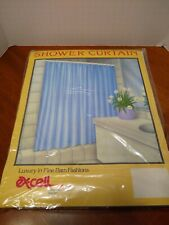 NEW EXCELL VINYL SHOWER CURTAIN Suede White