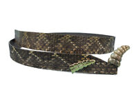 """Fancy Rattlesnake Hat Band with Rattle 0.75"""" wide (598-HB206) B1"""