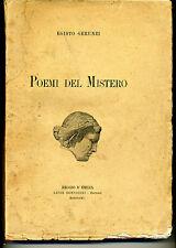Egisto gerunzi - poemi del mistero - Bonvicini ed. 1915 105/150