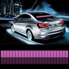 90x10cm Car Sticker Music Rhythm Pink LED Light Lamp Sound Activated Equalizer