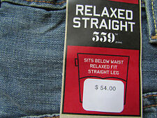 NEW LEVIS 559 RELAX STRAIGHT JEANS 005590178 MENS 31X34 FREE SHIP