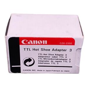 Canon TTL Hot Shoe Adapter 3 #CZ6-2355 Control up to 4 Speedlites  NEW