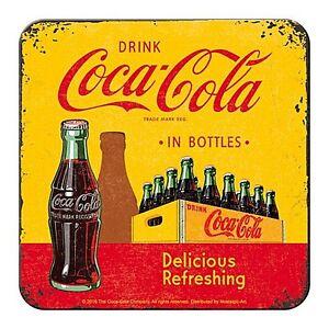Coca Cola In Bottles (carton) cork backed drinks mat / coaster (na)