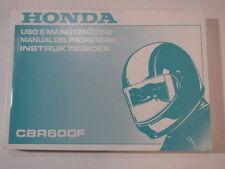 HONDA CBR600 F3 1996  OWNER MANUAL DEL PROPIETARIO  INSTRUKTIEBOEK