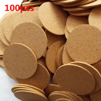 1/10/20/100 Cork Tea Coffee Drink Cup Mat Coasters Placemats Wine Tablemat Round