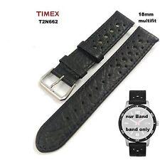 Timex repuesto Pulsera t2n662 dive style Originals - 18mm LW Multifit cuero