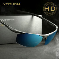 VEITHDIA Men's Aluminum Polarized Sunglasses Sports Mirrored Driving Sun Glasses
