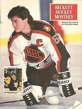 Beckett Hockey Monthly February 1991 Mario Lemieux cover Joe Sakic back