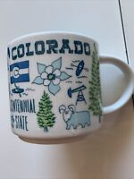 STARBUCKS Coffee Cup Mug COLORADO Been There Series 14oz Across Globe Collection