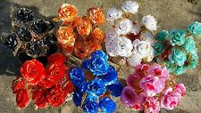 État de 30 mixte couleur rose soie fleur artificielle bouquets wholesale lot 17