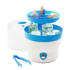 H+H BS 29b Babyflaschen-Sterilisator für 6 Flaschen in blau