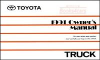 1991 TOYOTA TRUCK MANUAL OWNERS PICKUP BOOK