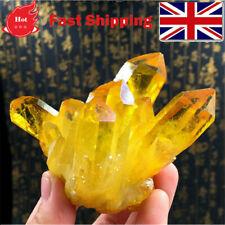 Natural Citrine Amethyst Crystal Quartz Cluster Gem Stone Healing Specimen