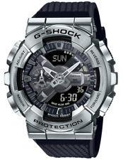Casio G-Shock Stainless Steel Bezel GM110-1A Silver Analog-Digita 2020