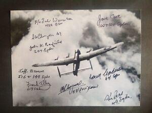 Lancaster Photo Signed 9 Bomber Command Veterans