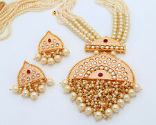 Necklace Earrings Traditional Jewelry Set Indian Bollywood Bridal Kundan Pendent