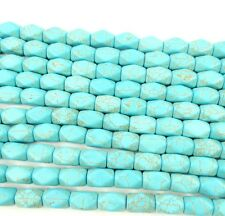 wholesale Blue Turquoise Gemstone Spacer Loose Beads Charm Findings 15'' Strand