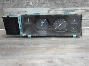 Late 1987-90 Jeep Comanche/Cherokee MJ/XJ Renix Column Shift Instrument Cluster