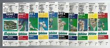 1987 NFL MIAMI DOLPHINS FULL UNUSED FOOTBALL TICKETS - ENTIRE HOME SEASON MARINO